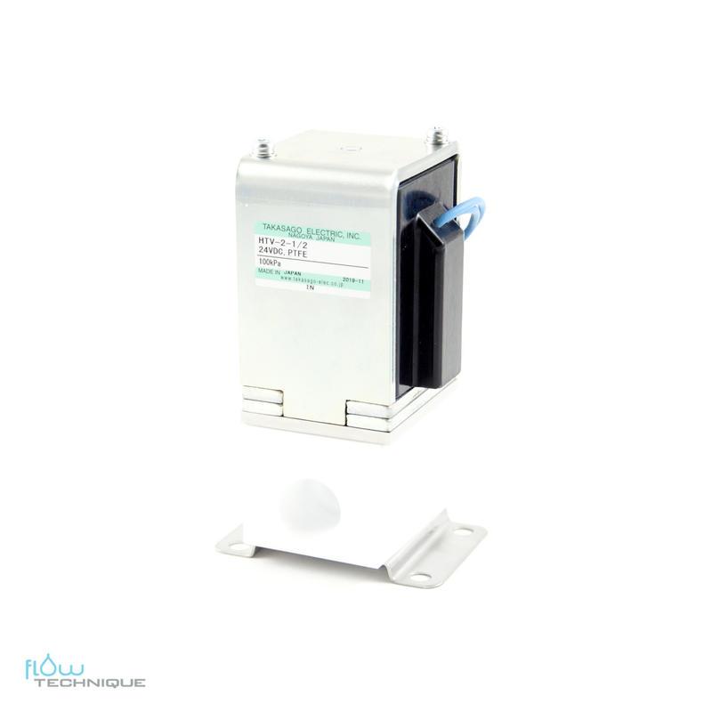 Electrovannes, -Electrovannes à membrane chimiquement inerte, -Diamètre de passage >3mm-Electrovanne HTV