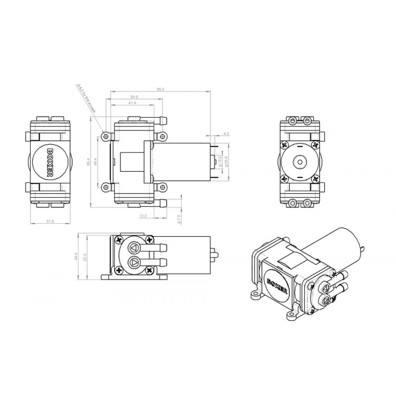 Pompes à air/gaz-Pompe à membrane 3KD