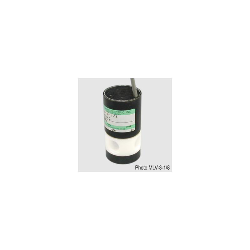 Electrovannes, -Electrovannes à membrane chimiquement inerte, -Diamètre de passage >3mm-Electrovanne MLV